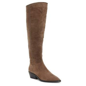 1.STATE Sage Suede Leather Tall Western Boots